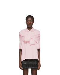 Alexander Wang Pink Tie Sleeve Polo