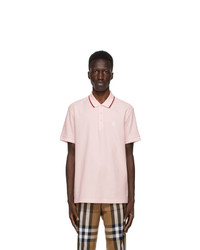 Burberry Pink Walton Icon Stripe Polo