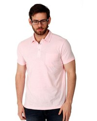 Filthy Etiquette Sebastion Pastel Polo In Pink Small