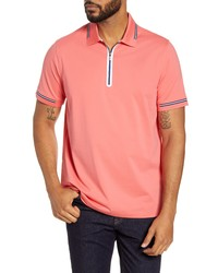 Bugatchi Tipped Zipper Polo