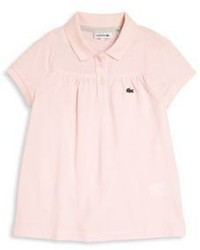 Lacoste Toddlers Little Girls Classic Gathered Cotton Pique Polo Shirt
