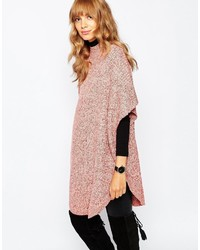 Vila High Neck Oversized Poncho Sweater