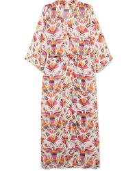 Verdelimon Printed Voile Robe
