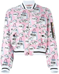 Moschino Shopping Bag Print Bomber Jacket