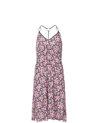 Victoria Victoria Beckham Printed Flared Midi Dress
