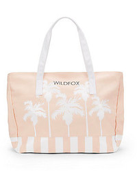 Wildfox Couture Belair Palm Tree Canvas Tote