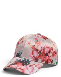 Floral print baseball cap black medium 3992961