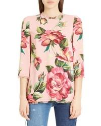 Dolce & Gabbana Dolcegabbana Rose Print Cady Blouse