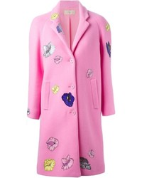 Christopher kane flower sticker coat medium 613402