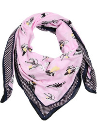 Kenzo cactus printed cotton scarf medium 675800