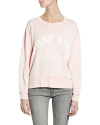 Pink Print Crew-neck Sweater