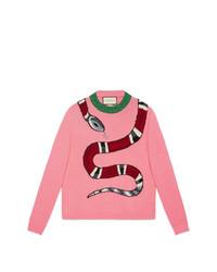 Gucci Kingsnake Wool Knit Sweater
