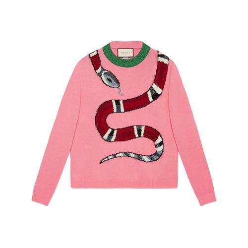d88053d02e0 ... Gucci Kingsnake Wool Knit Sweater ...