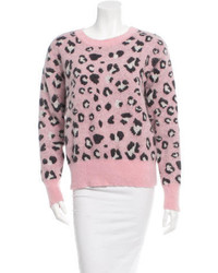 Opening Ceremony Leopard Print Crew Neck Sweater