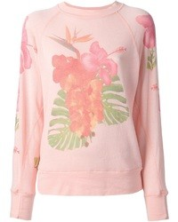 Wildfox Couture Wildfox White Label Floral Print Sweatshirt