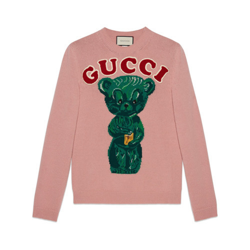 aebe0e77f59 ... Crew-neck Sweaters Gucci Wool Sweater With Teddy Bear ...