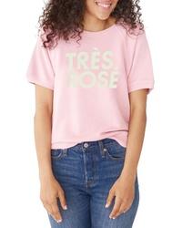 BAN.DO Ban Do Tres Rose Short Sleeve Sweatshirt