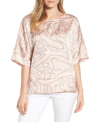Kenneth Cole New York Boxy Crop Satin Tee
