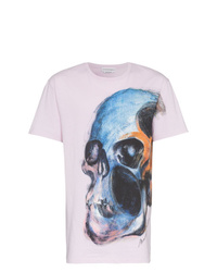 Alexander McQueen Large Skull Print Graphic T Shirt