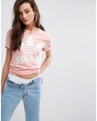 adidas Originals Pink Trefoil Boyfriend T Shirt