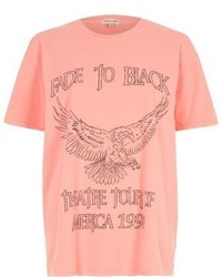 Pink fade to black rock band print t shirt medium 3637367