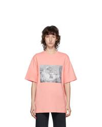 MSGM Pink Logo Graphic T Shirt