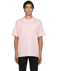Burberry Pink Oversized Location Print T Shirt