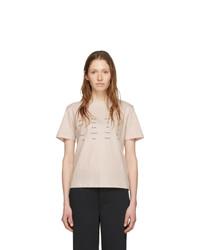 Proenza Schouler Pink White Label Address Logo T Shirt