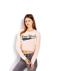 Forever 21 New York Cropped Sweatshirt
