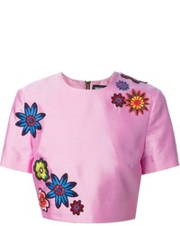 House of Holland Cropped Flower Blouse
