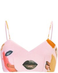 Alice McCall Lips Pink Celestine Cropped Top