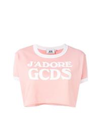 Gcds Logo Cropped T Shirt