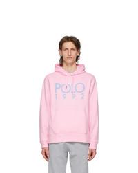 Polo Ralph Lauren Pink Fleece Logo Hoodie
