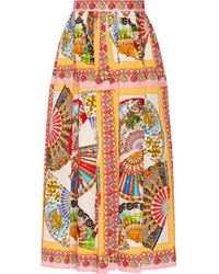 Printed cotton midi skirt medium 178435