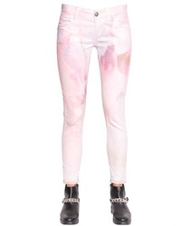 Pink Print Jeans