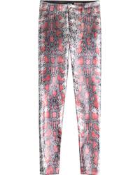Snake print skinny jeans medium 716664