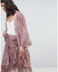 Sofie Schnoor Bird Print Wrap Kimono
