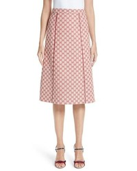 Gucci Gg Print Canvas A Line Skirt
