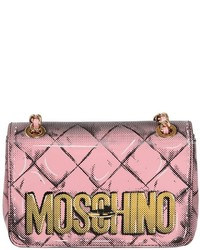 Moschino Mini Printed Patent Leather Shoulder Bag