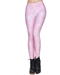 Triangle galaxy print pink leggings medium 46111