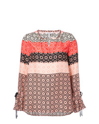 Derek Lam 10 Crosby Long Sleeve Button Down Blouse With Bell Sleeves