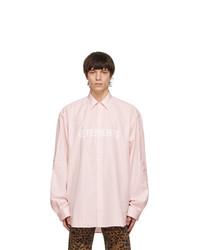 Vetements Pink Front Logo Shirt