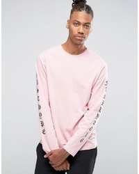 Pink Print Long Sleeve T-Shirt