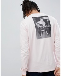 ASOS DESIGN Elvis Relaxed Longline Long Sleeve T Shirt With Back Photographic Print And Chest Print