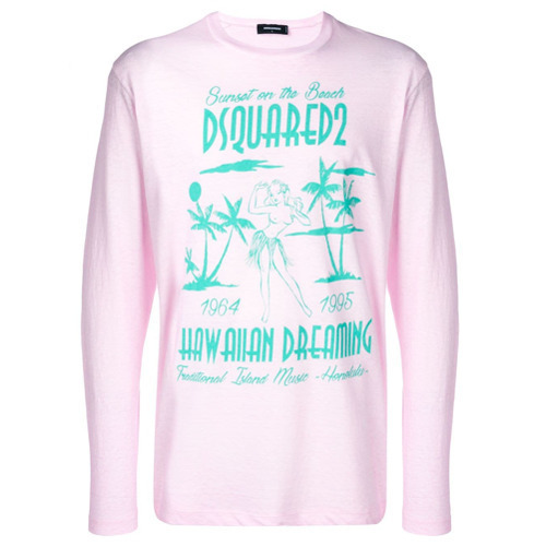 2206efcf DSQUARED2 Hawaiian Dreaming Print T Shirt, $267 | farfetch.com ...