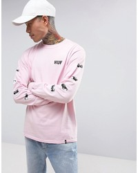 ... HUF X Pink Panther Long Sleeve T Shirt With Sleeve Print 402d28b4791
