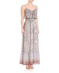 Pink Print Maxi Dress