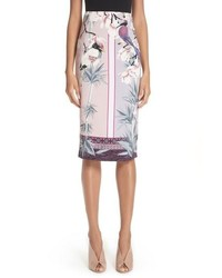 Versace Collection Bird Print Pencil Skirt
