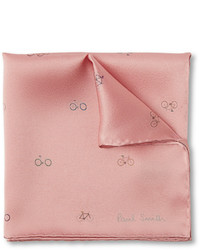 Paul Smith Shoes Accessories Printed Silk Pocket Square