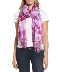Marine mosaic print wool cashmere scarf medium 5209136